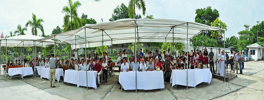 Toàn cảnh buổi lễ Khánh thành Tháp bút Cơ điện