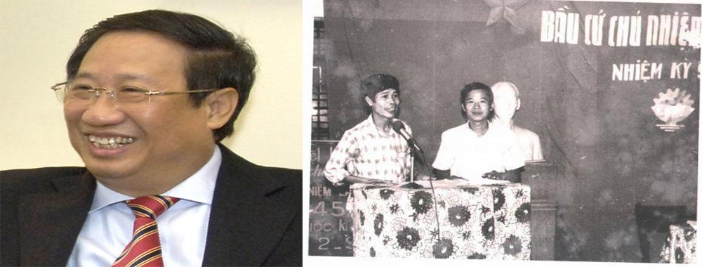 Thầy Phạm Gia Khiêm, cựu giảng viên, nguyên Phó Thủ Tướng Chính Phủ-Thầy Lê Cao Thăng, nguyên Bí thư ĐU, nguyên Hiệu trưởng Nhà trường
